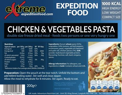 Picture of ***Special Order***     Extreme Freeze Dried Main Meal - 1000 Cal.