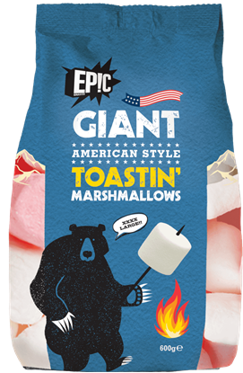 Picture of Epic Snax - Giant American Style Toastin' Marshmallows (6 x 600g packs)