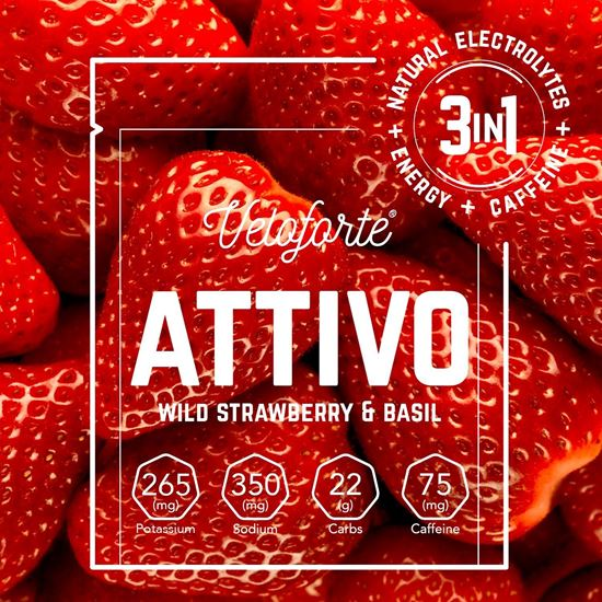 Picture of Veloforte Attivo – Natural Energy & Electrolyte Drink with Caffeine (24 X 25g)