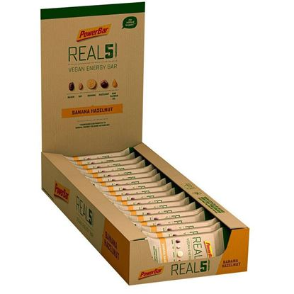 Picture of PowerBar Real 5 Vegan Energy Bar - (18 x 65g bar)