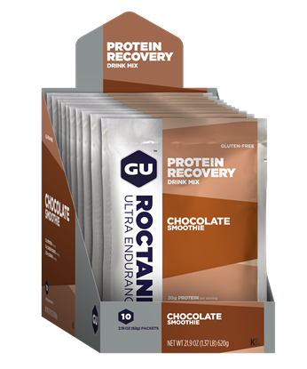 Picture of GU Roctane Protein Recovery Drink Sachets - Box of 10 Serve Single Sachets