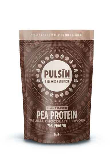 Picture of Pulsin Natural Chocolate Flavour Pea Protein 1 KG