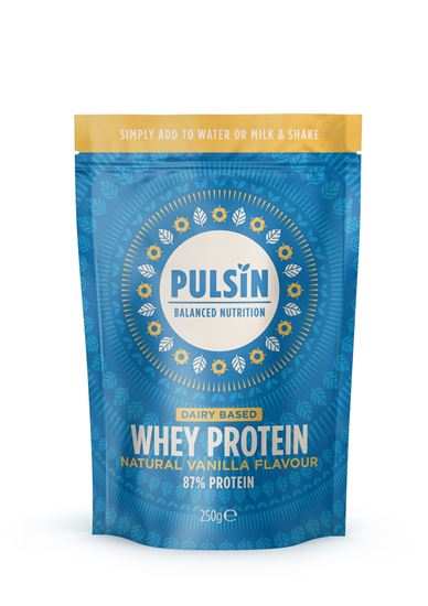 Picture of Pulsin Natural Vanilla Flavour Whey Protein 250g