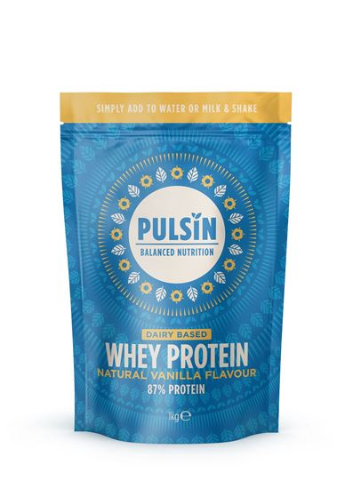 Picture of Pulsin Natural Vanilla Flavour Whey Protein 1 KG