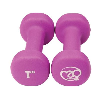 Picture of Mad Fitness: Purple Neoprene 1 KG Dumbbells (Pair) (FDBELL1)