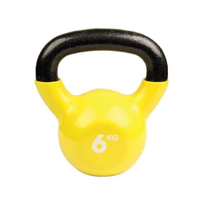 Picture of Mad Fitness: 6kg Yellow Kettlebell (FKETTLE6)