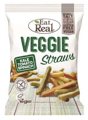 Picture of Eat Real: Veggie Straws & Kale (12 X 45g)
