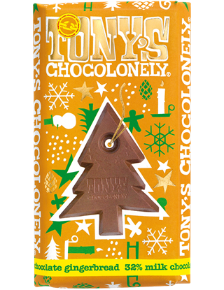 Picture of Tony's Chocolonely Large CHRISTMAS Bars (15 x 180g Bars)