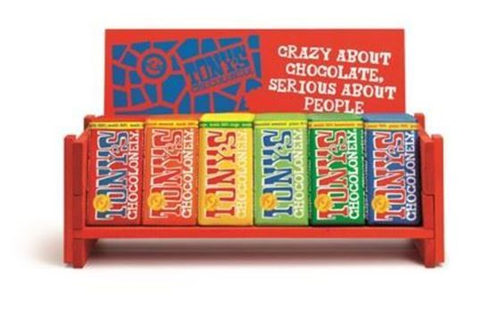 Picture of Tony's Chocolonely Big Bar Wooden Bench (57cm wide)