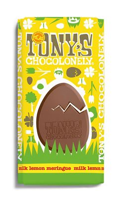 Picture of Tony's Chocolonely Large Bar: Easter Special: Lemon Meringue (15 x 180g Bars)