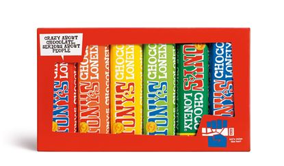 Picture of Tony's Chocolonely Rainbow Tasting Set (6 x 47g Bars)