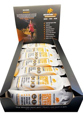 Picture of Mountain Fuel: Natural Sports Jelly + with Caffeine (Box 24 x 70g gels)