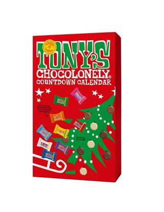 Picture of Tony's Chocolonely Advent Calendar (12 in a Xmas POS display box)